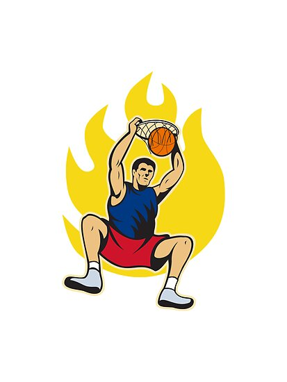 Basketball Player Dunking Ball by patrimonio