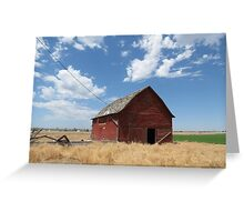 The Barn....OR....How I Met The Charging Bull Greeting Card