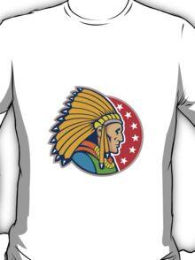 Native American Indian Headgear Side T-Shirt