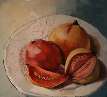 Guavas-on-a-plate by Kobie Bosch