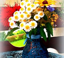 Handpicked flowers on the balcony by ©The Creative  Minds