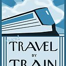Vintage Style Train Travel Image by Sarah Countiss
