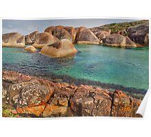 Elephants, Rocks and Lichen. William Bay NP. WA. Poster