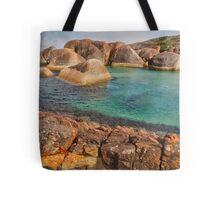 Elephants, Rocks and Lichen. William Bay NP. WA. Tote Bag