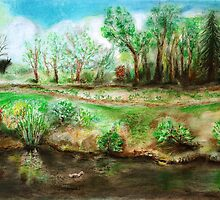 Riverside scene by art-by-hughie