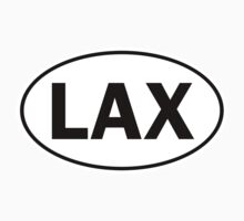 LAX - Oval Identity Sign by Ovals