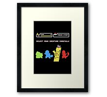 Choose Your Creature... Framed Print