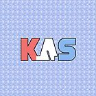 K.A.S Wide Logo Phone Cover - Navy 'Tendo Clouds by K. A .S