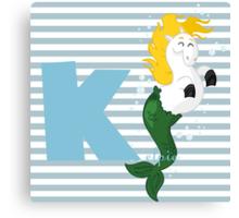 k for kelpie Canvas Print