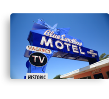 Route 66 - Blue Swallow Motel Canvas Print