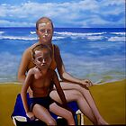 my love with sand and son by alan  sloey