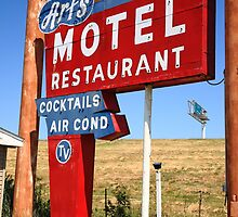 Route 66 - Art's Motel by Frank Romeo
