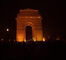 People gathered around India Gate by ashishagarwal74