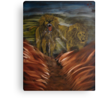 """""""Twin Lions""""  by Carter L. Shepard Canvas Print"""