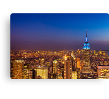 View From The Top of The Rock - New York City Canvas Print