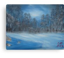 """Winter Scene 2""  by Carter L. Shepard Canvas Print"