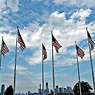 Flags And The Freedom Tower by Jane Neill-Hancock