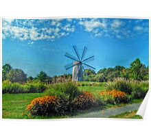 Boyd's Wind Grist Mill in Middletown, Rhode Island Poster