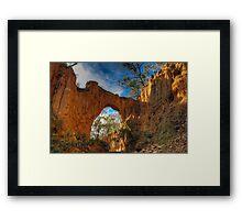 Golden Gully Arch. Framed Print