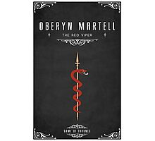 Oberyn Martell Personal Sigil Photographic Print