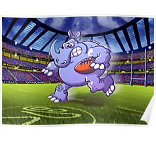 Olympic Rugby Rhinoceros Poster