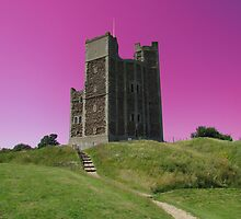 Magenta Skies, Orford Castle by wiggyofipswich