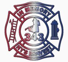 In Memory of NY 343 Style Patriotic by Tony  Bazidlo