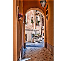 ROME : - ENTRANCE TO THE YARD... Photographic Print