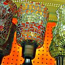 Stained Glass Hurricaine Lamps For Sale by Jane Neill-Hancock