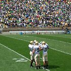 The Huddle-Notre Dame Football by NAH Photography