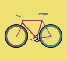 Simple Bike ~ Fixie Magenta Teal by hmx23