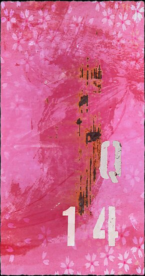 Trashed, scratched, rusted and dented - Q 14 Pink by artdeluxe