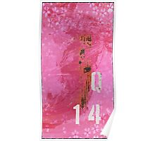 Trashed, scratched, rusted and dented - Q 14 Pink Poster