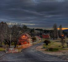 Dusk in Hill End. by Julie  White