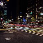 Time Exposure Traffic on Woodward by Tina Logan