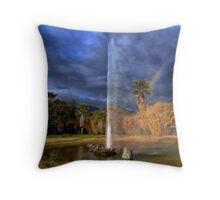 Geyser & Rainbow Throw Pillow