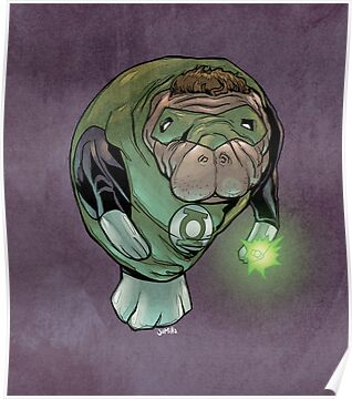 Green Lantern Manatee by jomiha