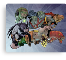Justice League of Manatees Canvas Print