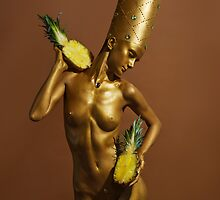 nude, fruit, girl, art, fashion, pineapple by NinaRetoucher