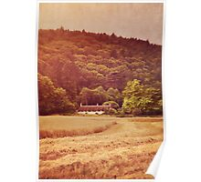 The cottage at the edge of the wood Poster