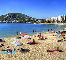 Santa Eulalia Beach and Bay by Tom Gomez