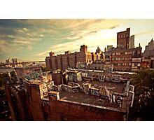 Rooftop Graffiti - Chinatown - New York City Photographic Print
