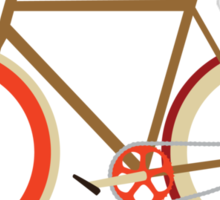 Bike ~ Fixie Warm Fall Colors Sticker