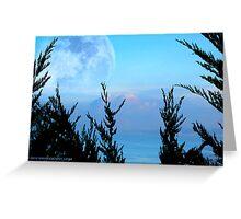 Blue Moon Bay Greeting Card