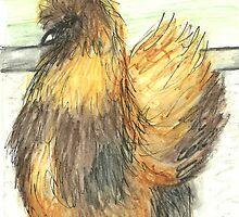 Tortiseshell Silky Hen by Karen Bailey
