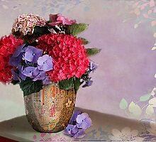 My Hydrangeas by Irene  Burdell