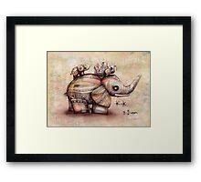 upside down elephants Framed Print