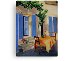 The Blue Shutters Canvas Print