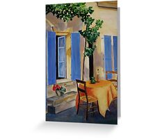 The Blue Shutters Greeting Card