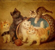 Vintage Cats and Dogs by Pamela Phelps